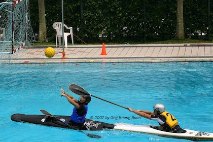 Water polo? Basketball? Kayaking? Do all three with Canoe Polo