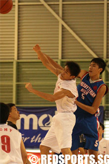 Presbyterian High vs Chung Cheng High (Yishun) in Round 2 of B Division North Zone basketball