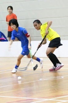 Victoria JC vs Meridian JC A Division Girls' Floorball Final