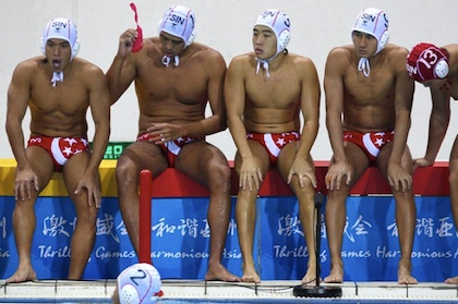 Singapore Water Polo Trunk Pictures on Mica Is Saying The Design Is    Inappropriate      Photo 2 Courtesy Of
