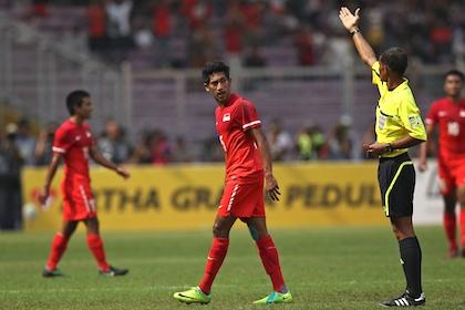 sea games 2011 football singapore vs indonesia