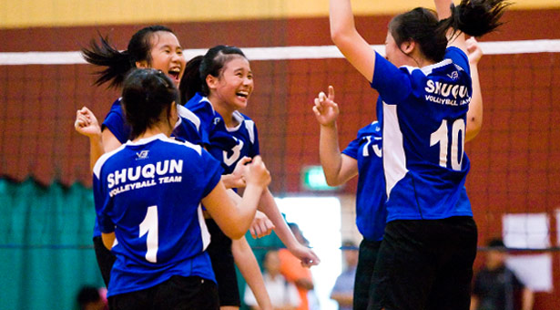 West Zone C Div Vball (Girls): Shuqun come from behind to defeat Hua Yi 2-1 in Group C match