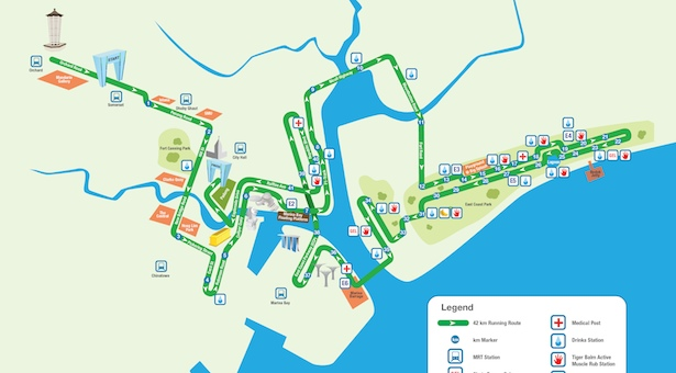 Organisers announce improved Singapore marathon route