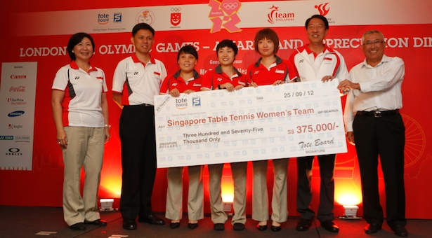 Singapore paddlers honoured for double bronze at London