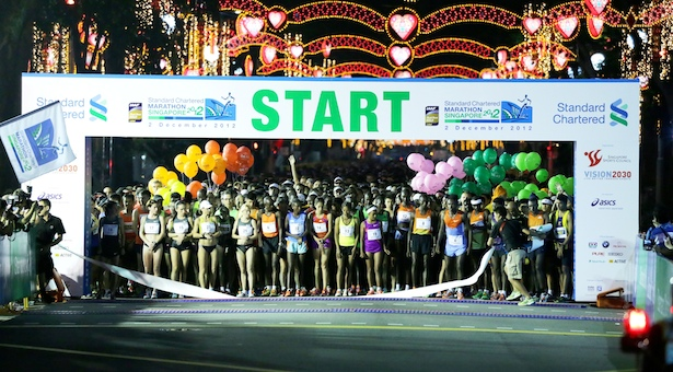 Marathon: 12,922 runners finish 42.195km