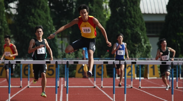 A Div 400m Hurdles (Boys): Ow Yeong Yu Xiang of HCI sets new record of 54.56s