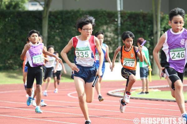 c boys 4x100m relay final
