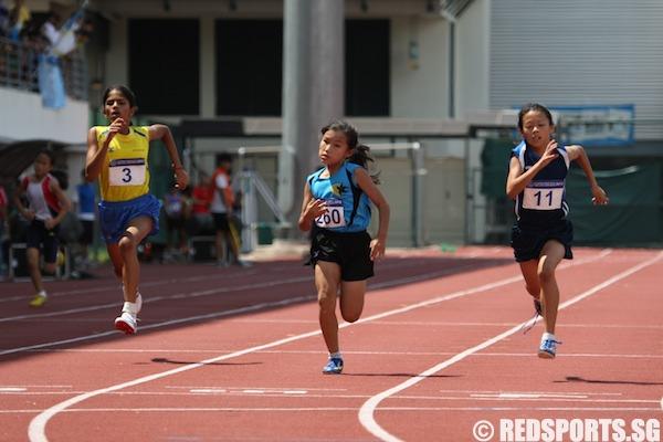 d girls 100m final
