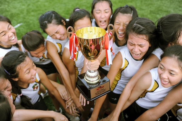 National A Division Girls Touch Football Champions - Serangoon Junior College (Photo courtesy of Lim Weixiang)