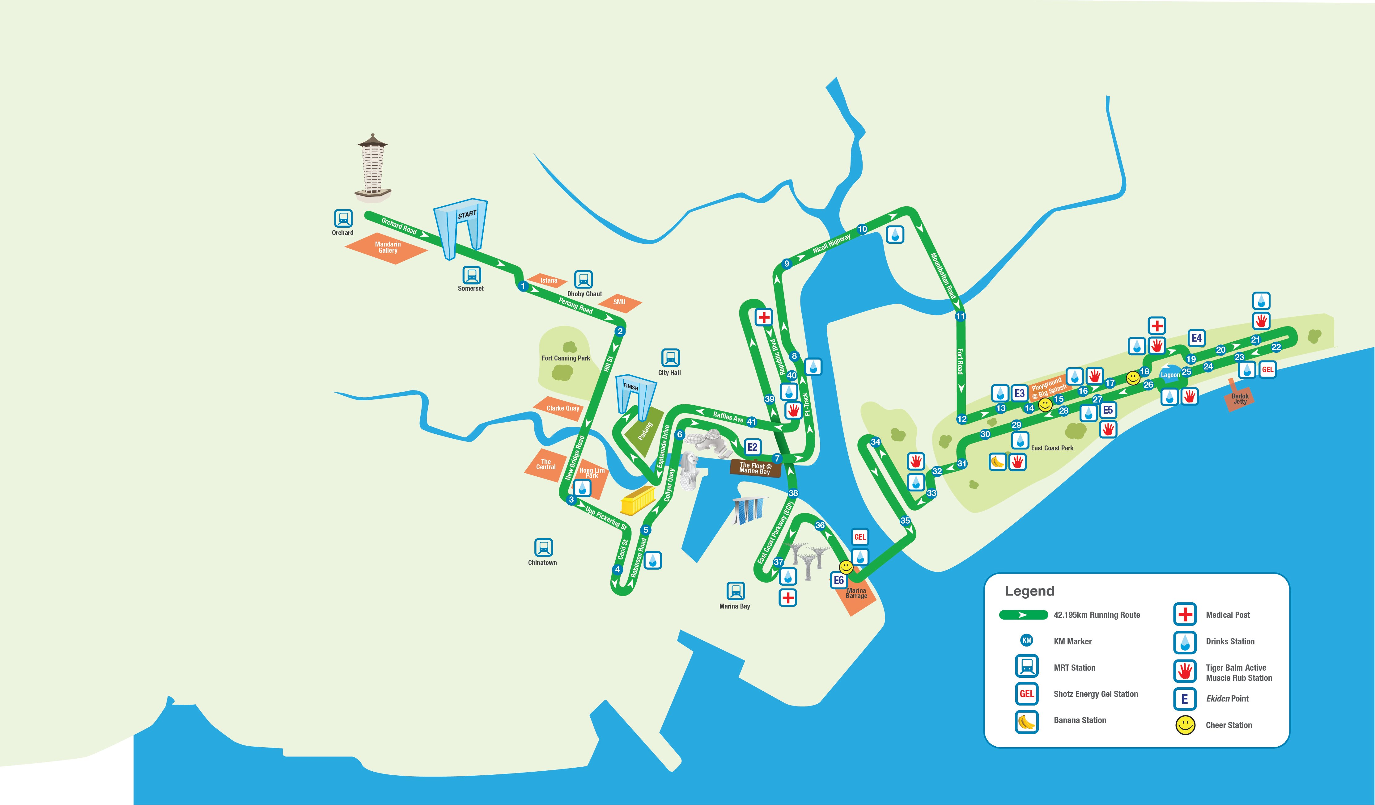 singapore marathon race route