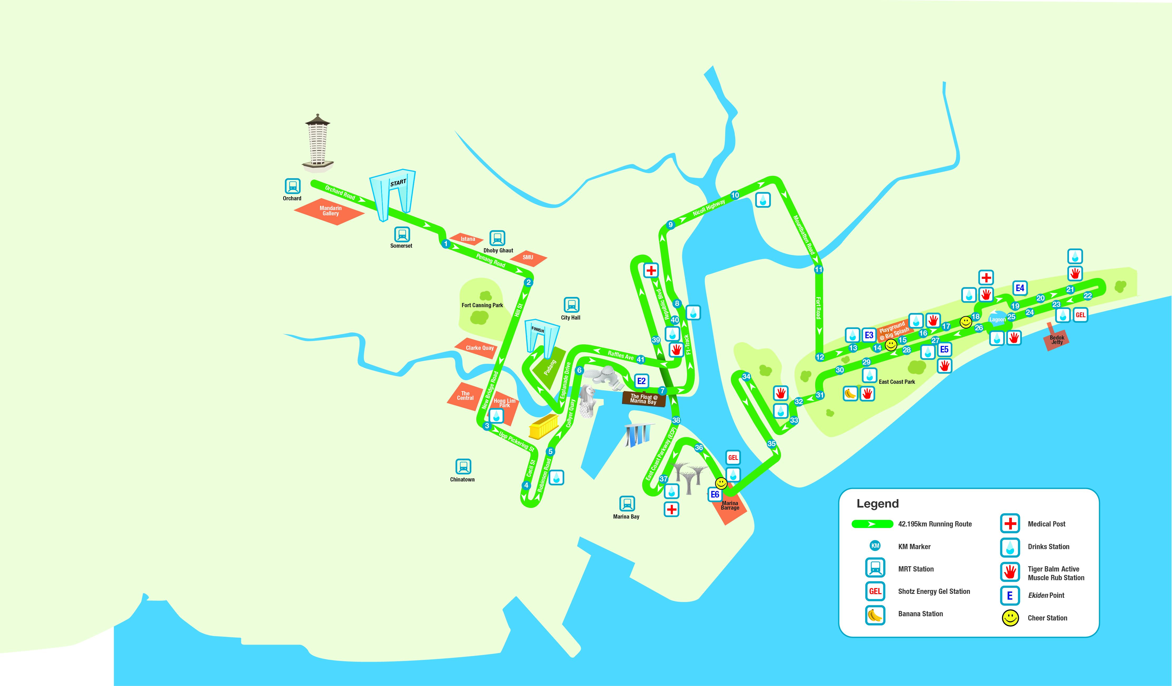 singapore marathon race route