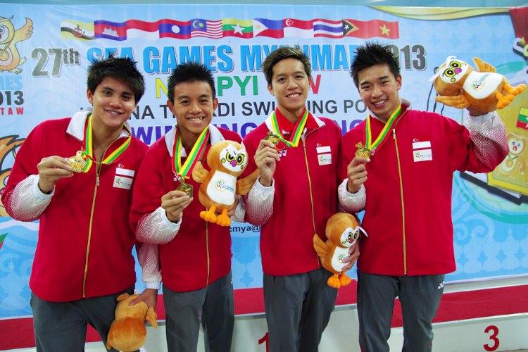 4x100m freestyle men relay sea games singapore