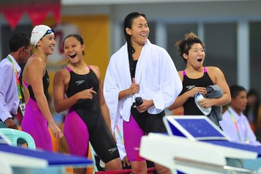 SEA Games Swimming: Singapore win 6th consecutive women's 4x100m medley relay gold medal