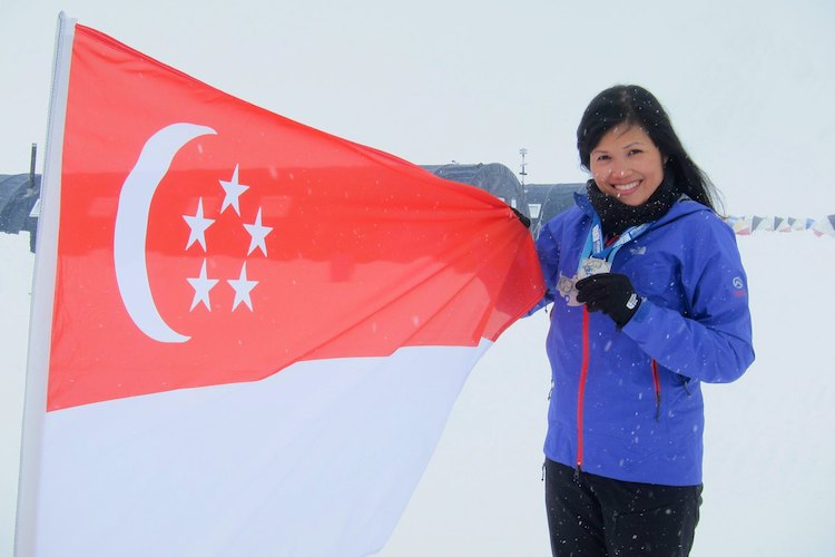 yvonne chee antartic ice marathon