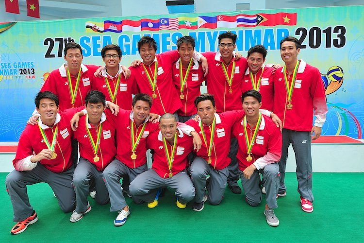singapore water polo sea games gold