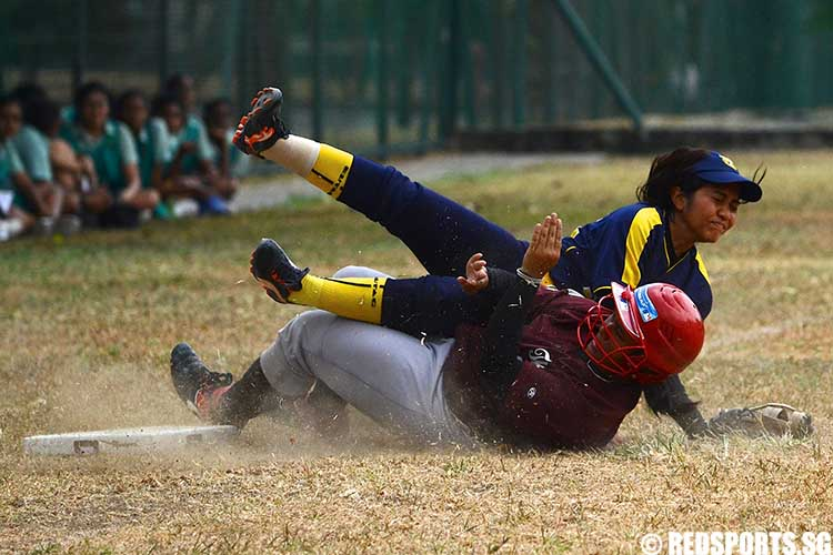 B Division Girls Softball Tanjong Katong Girls School vs CHIJ St. Theresa's Convent