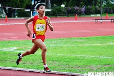 C Division 3000m (Boys): Er Wen Han of HCI clocks 10:09.31 to win gold
