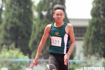 C Div 100m: Joshua Chua of RI takes first place in 11.66s