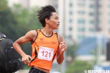 B Div 1500m (Boys): Keith Yong of Sports School wins gold in 4:29.95