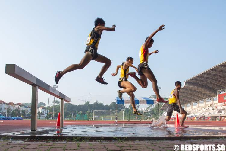 55th National Inter-School Track & Field Championships A Division 3000m Steeplechase Boys