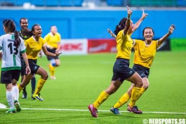 National A Div Football (Girls): VJC beat RI 1–0 in extra time to defend title