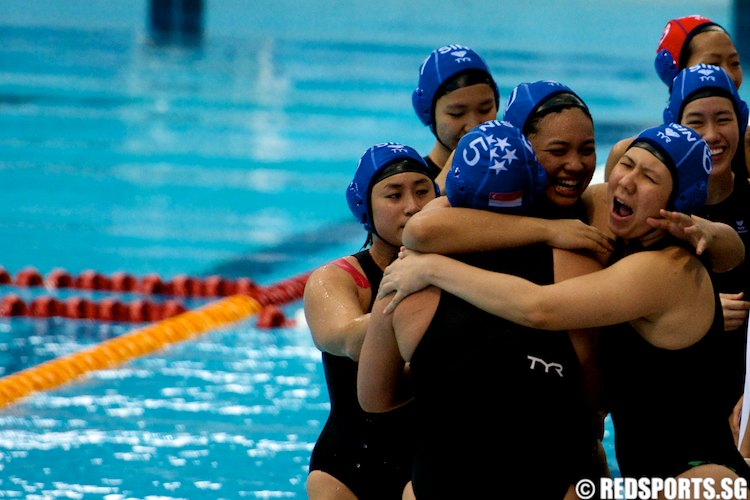 SEA Swimming Championship Water Polo WMNS Singapore vs Thailand Finals