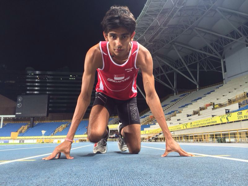 Zubin Muncherji broke a 40-year-old Singapore national record when he ran the 400m in 47.29s at the 16th Asian Junior Championships in Taipei, Taiwan. (Photo courtesy of SAA)