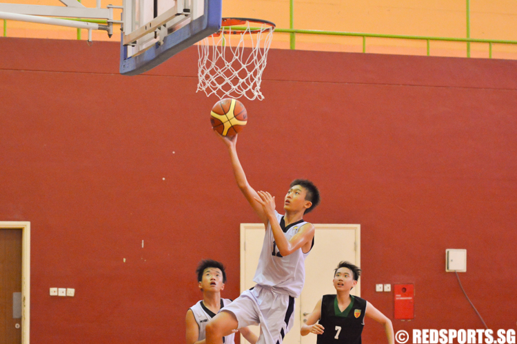Gerald Lim (GYSS #12) puts one in after a fast break (Photo 1 &;copy Zachary Foo/Red Sports)