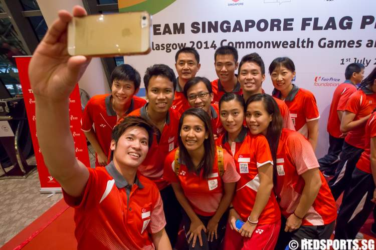 Team Singapore Flag Presentation Ceremony 20th Commonwealth Games 2nd Youth Olympic Games