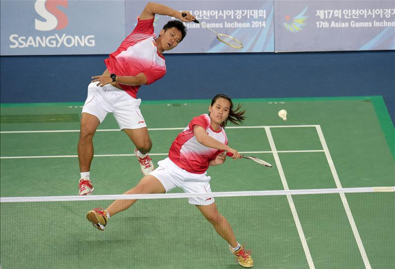 Image result for Mixed Doubles in badminton