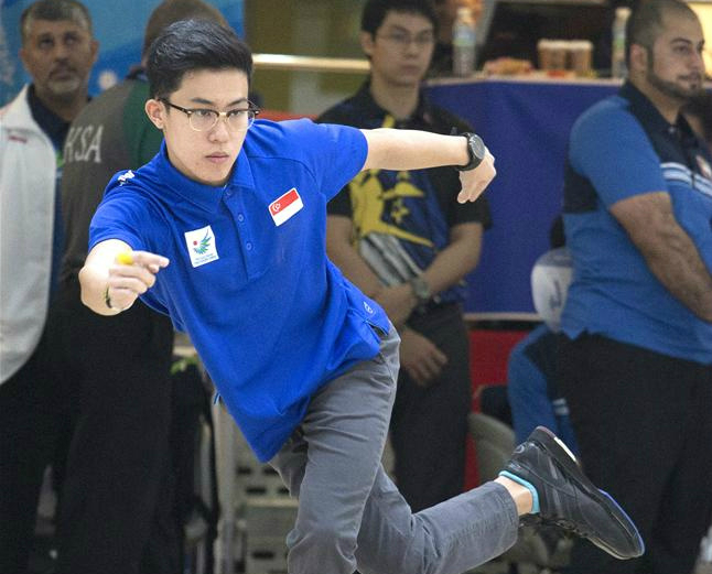 Joel Tan (pictured) teamed up with Justin Lim to finish eighth — Singapore's top pair — in a field of 52 teams in the men's doubles competition. (Photo 5 courtesy of Vivek Prakash/Sport Singapore via Action Images Livepic)