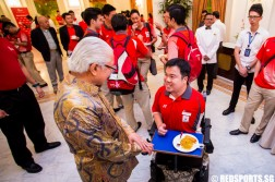 Team Singapore athletes reception Istana