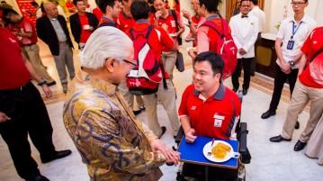 Team Singapore athletes reception Istana