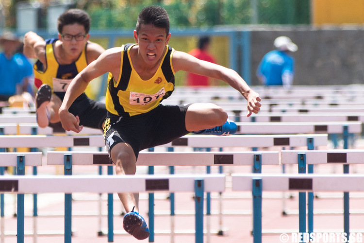A Div 110m Hurdles: Jared Chang of Victoria Junior College ...