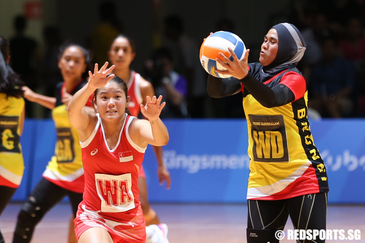 Kimberly Lim Wa Of Singapore Tries To Intercept The Pass Made To Siti Norsaihah