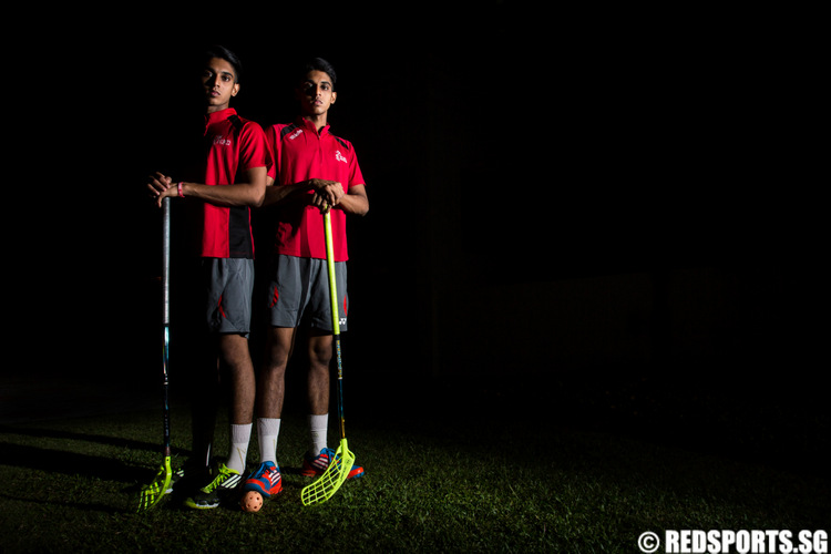 SEA Games floorball twins