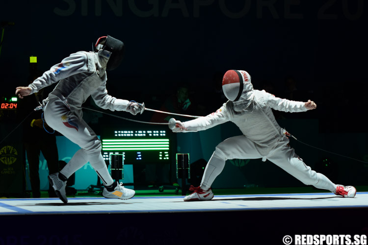 Kevin Chan (SIN) in action  against Wilfred Curioso (PHI). (Photo 1 © Laura Lee/Red Sports)