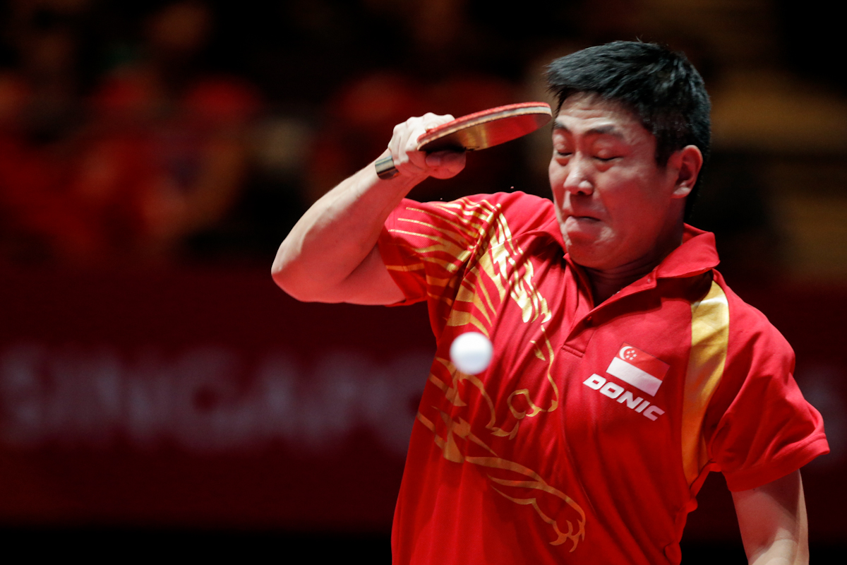 Gao Ning of Singapore in action. (Photo © Lee Jian Wei/Red Sports)