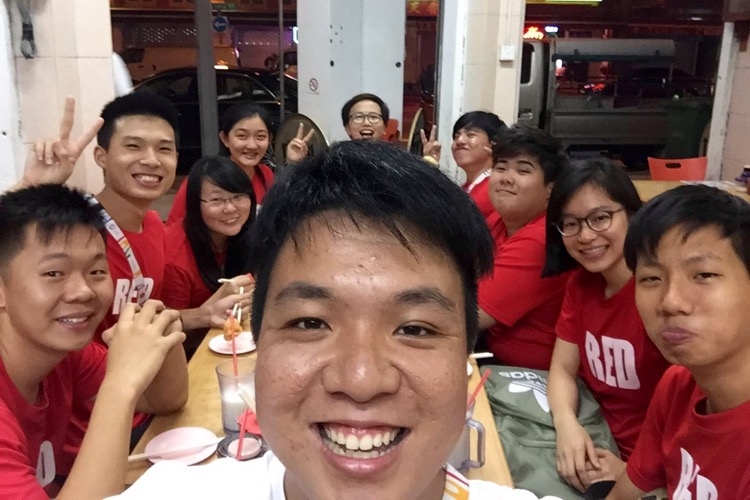 Red Crew having supper at Geylang after the football final. (Photo by Lim Yong Teck/Red Sports)