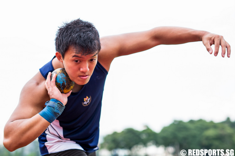 Wong Kai Yuen will be competing in the shot put event at the SEA Games. (Photo © Lim Yong Teck/Red Sports)