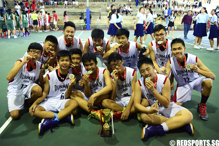 Dunman High narrowly edged out Anglican High 53-50 to win the East Zone title after a tense fourth quarter which saw the teams tied 42–42 for three minutes.