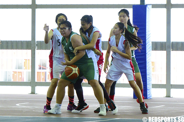 Players tussle for control of the ball. (Photo 6 © Louisa Goh/Red Sports)