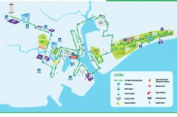 The route for the full marathon.