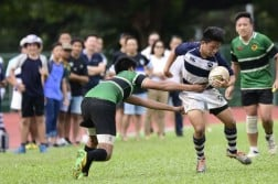 Saints saw off Raffles Institution 17-5 in the under-14 final. (Photo 2 by Eric Lim/SCC)