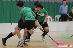 Ong Chong Lin (SST #97) weaves his way away from the defence. He scored 2 goals for his team. (Photo 2 © REDintern Chua Kai Yun)
