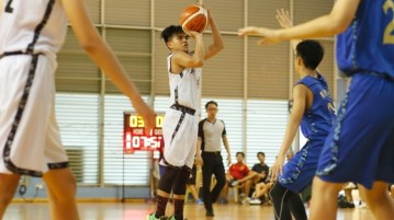 Christian Pepito (NV #19) pulls up for three. He sank 3 three-pointers en route to a game-high 27 points in the victory. (Photo  © Chan Hua Zheng/Red Sports)