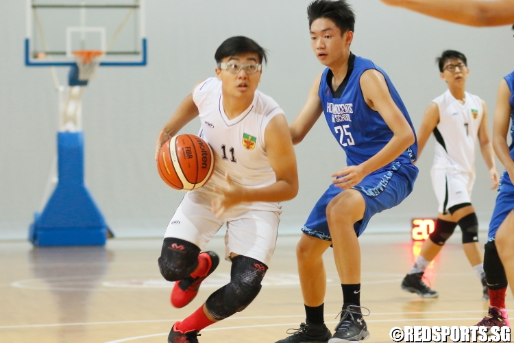 Adam Harith (RI #11) drives to the  basket.(Photo 9 © Dylan Chua/Red Sports)