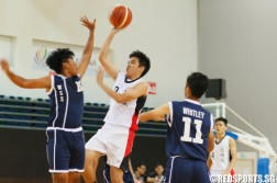 Sandra (Bartley #7) attempting a floater over his defender. (Photo  © REDintern Chan Hua Zheng)