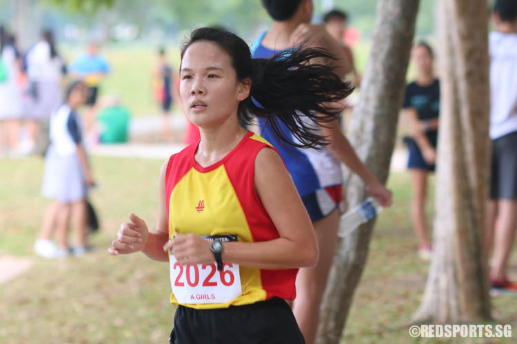 Crystabelle Wang came in twentieth with a timing of 16:53.55. (Photo © Chua Kai Yun/Red Sports)