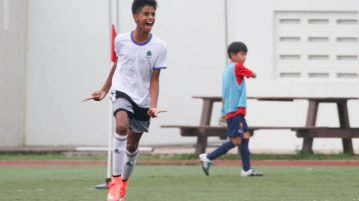 Philip Koshy (St . Patrick's #9) celebrates after scoring the team's second goal. (Photo © Chua Kai Yun/Red Sports)